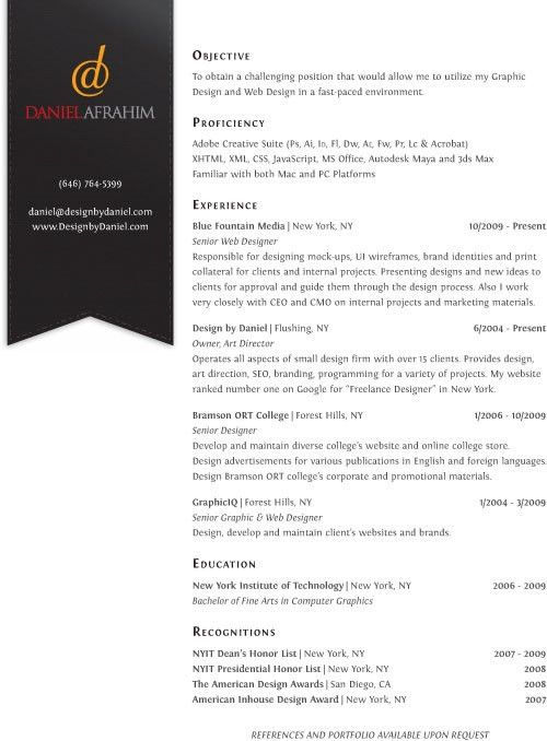 30 Creative Resume Designs Able to Land a New Job | Creativeoverflow