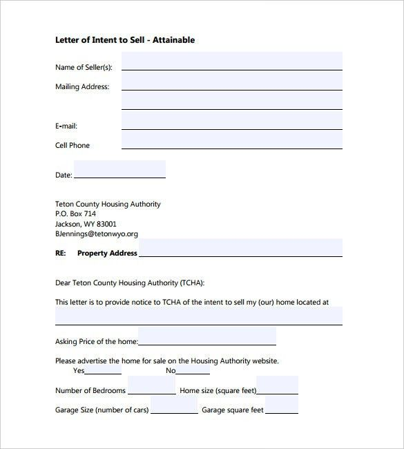 10+ Letter of Intent Templates – Free Sample Example Format ...