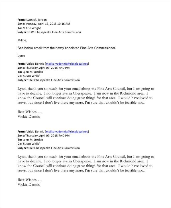 Sample Email Resignation Letter - 6+ Documents in PDF, Word