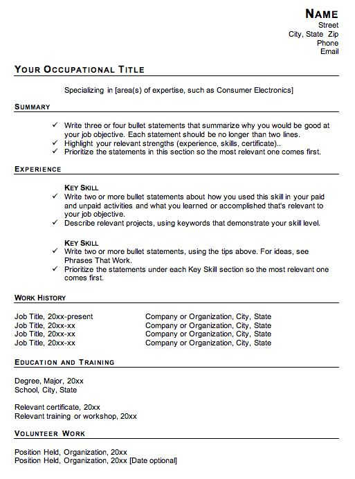 best resume template to use best resume format doc resume