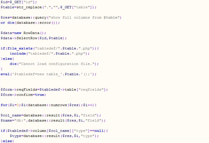 Examples | srcProtector - PHP code obfuscator