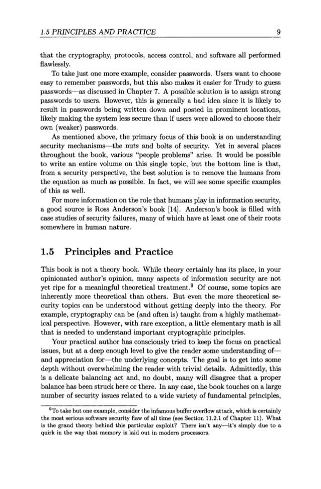 MARK STAMP'S INFORMATION SECURITY: PRINCIPLES AND PRACTICE (ref. book…