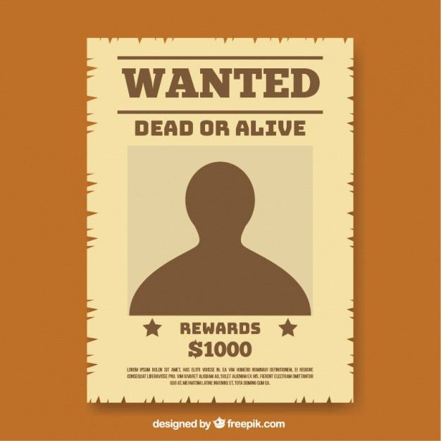 Wanted Poster Templates. wanted poster template bidproposalform ...