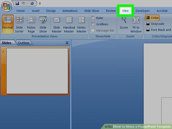 How to Make a PowerPoint Template: 12 Steps (with Pictures)