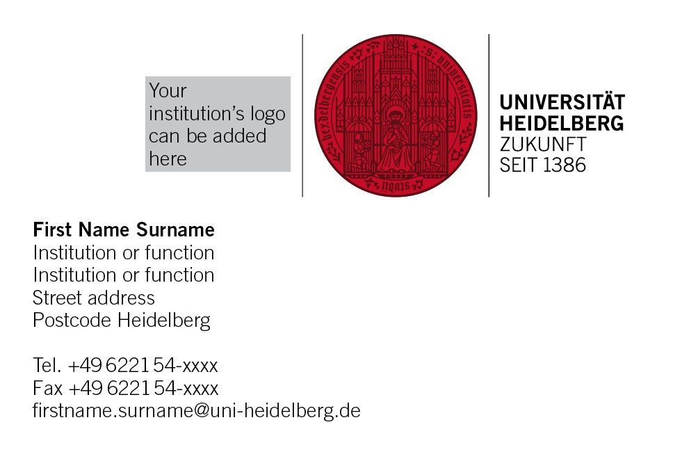 Business Card Service - Heidelberg University