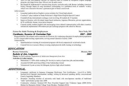 Cryptologic Linguist Resume. u s air force career detail ...
