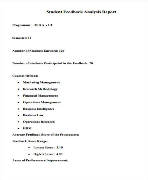 11+ Sample Student Report Templates   Free & Premium Templates