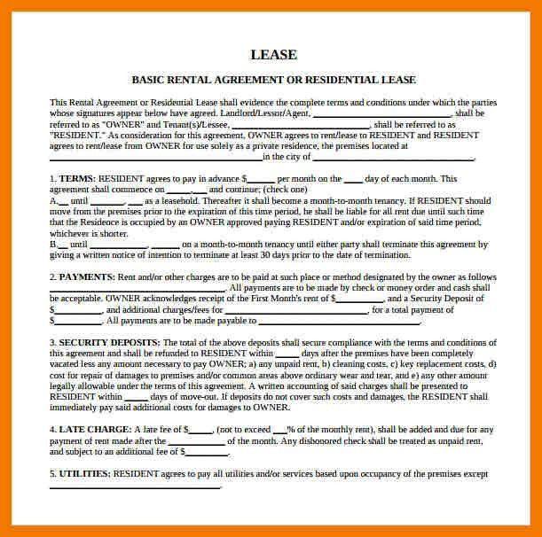 Blank Rental Lease | Jobs.billybullock.us