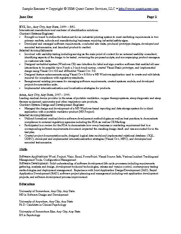 19+ [ Sample Resume Information Technology ] | Work Search Record ...