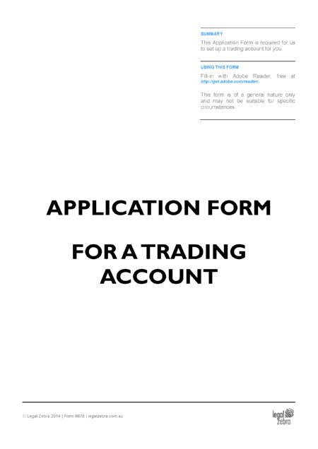 Account Application Form Template | Free Sample | Download DIY Kit ...