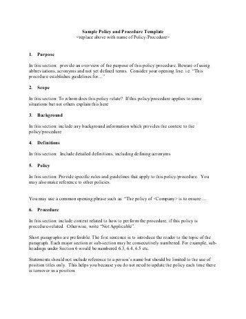 Policy Procedure Template. hipaa security policies and procedures ...