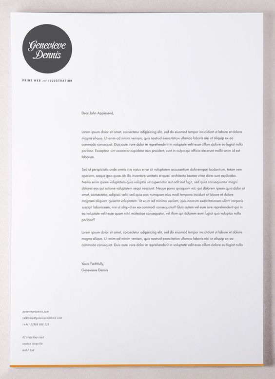 Good cover letter graphic design