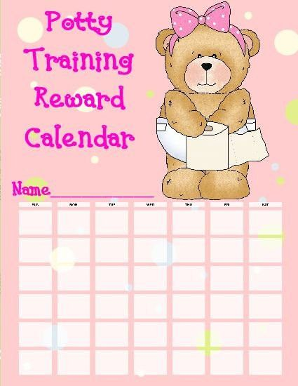 Items similar to Girl Potty Training Calendar (graphics by Cheryl ...