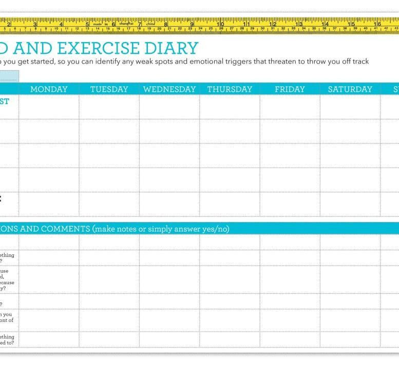 Food diary template - Healthy Food Guide