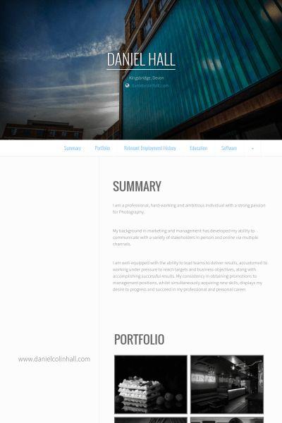 Photographe Indépendant Exemple de CV - Base de données des CV de ...