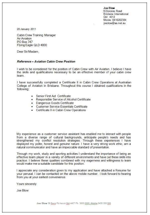 flight attendant cover letter sample resumedoc - Cover Letter For Cabin Crew