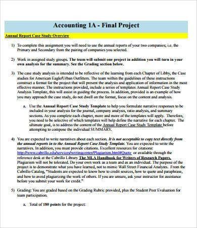 Case study format report