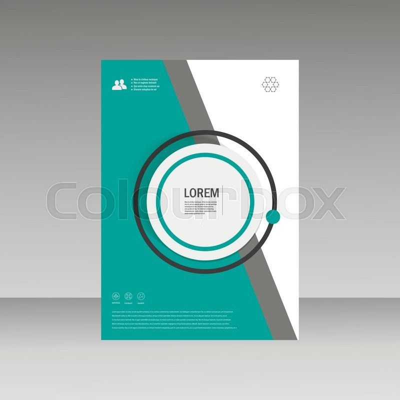 Vector Leaflet Brochure Flyer template A4 size design, annual ...