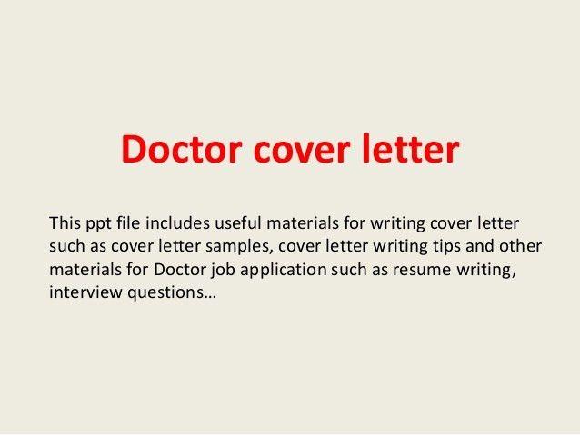 doctor cover letter 1 638jpgcb1393117246. Resume Example. Resume CV Cover Letter