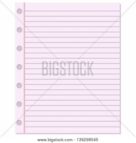 Notebook paper vector background. Blank education design notepad ...