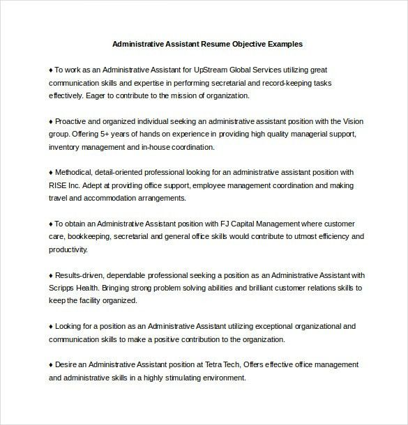 Download Resume Objectives For It Professionals ...