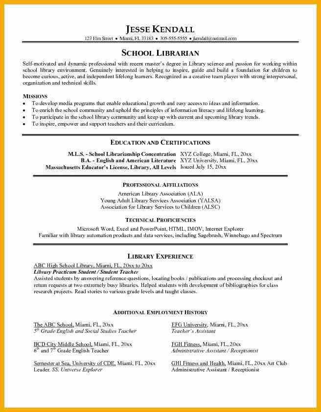 librarian resume templates