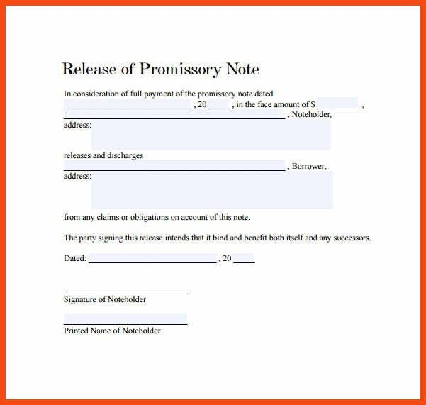 promissory note example | program format
