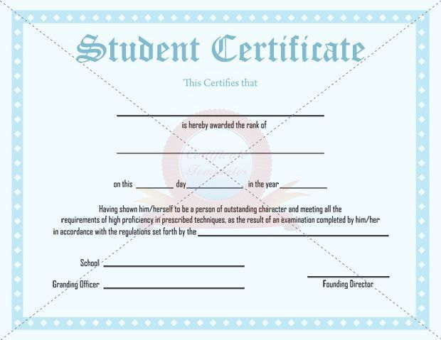 10 best STUDENT CERTIFICATE TEMPLATES images on Pinterest ...