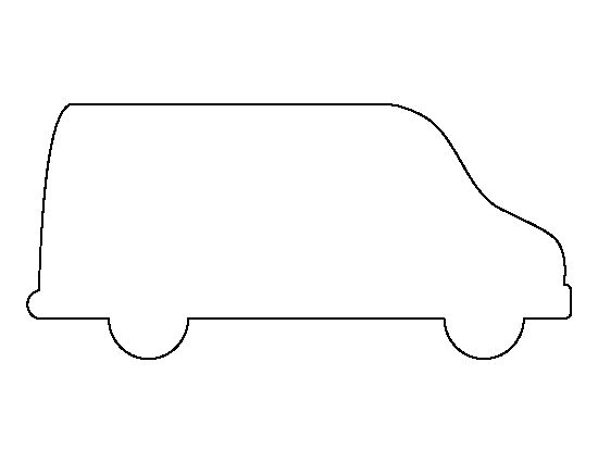 Van pattern. Use the printable outline for crafts, creating ...