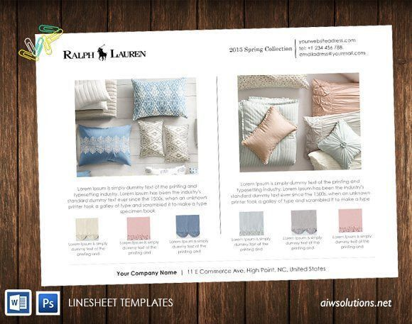7 best Line Sheet Examples images on Pinterest | Brochures ...