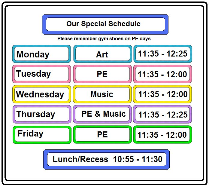 Teacher Schedule Template | classroom timetable template ...