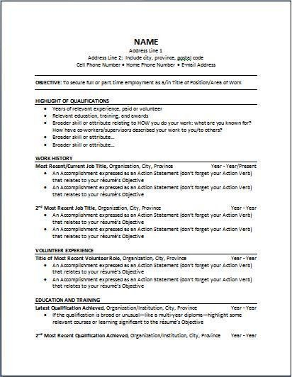 Chronological Resume Samples | haadyaooverbayresort.com