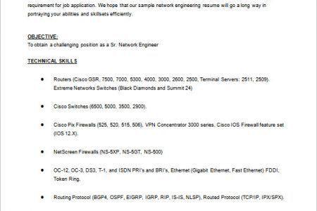 Sample Ccna Resume Entry Level Network Technician Manoj Level Ccna ...