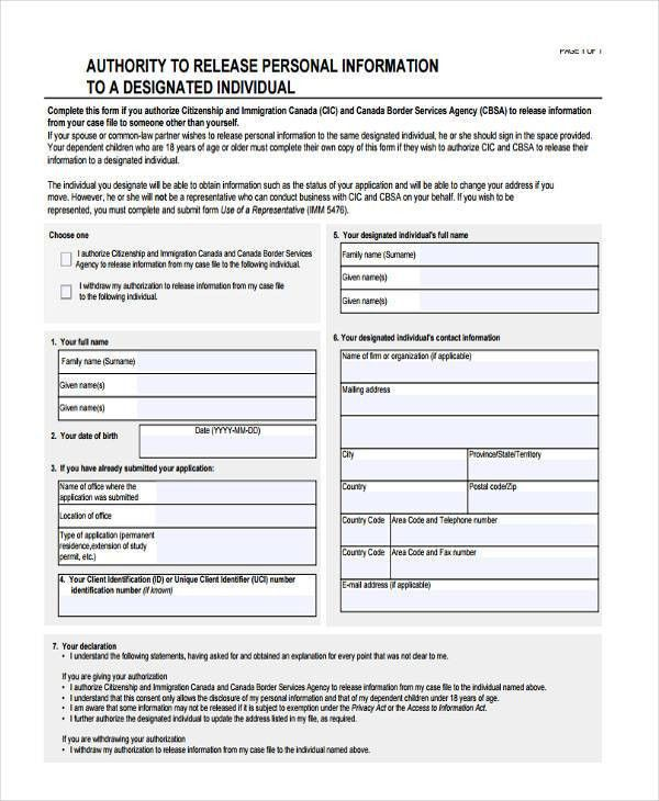 16+ General Release of Information Form Templates