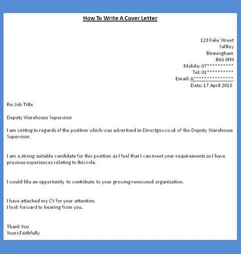 writing a cover letter for a job how to start a cover letter for a ...