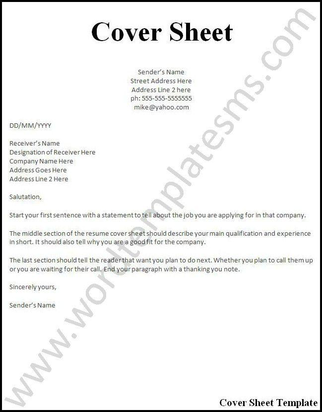 Download Resume Cover Sheet | haadyaooverbayresort.com