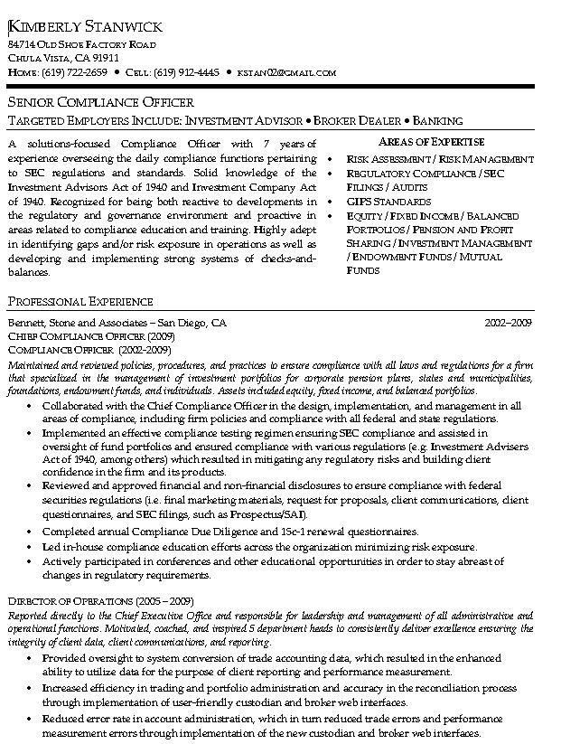 Example Professional Resumes. Professional Resume Example, Page 4 ...