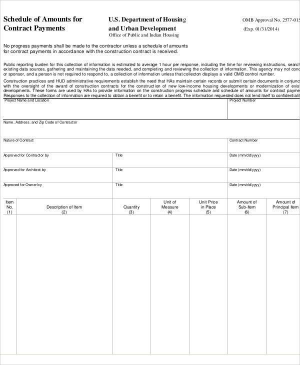7+ Contract Payment schedule Templates - Sample, Example | Free ...