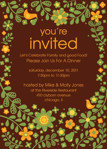 Card Invitation Ideas. Party Invitation Cards Templates For ...