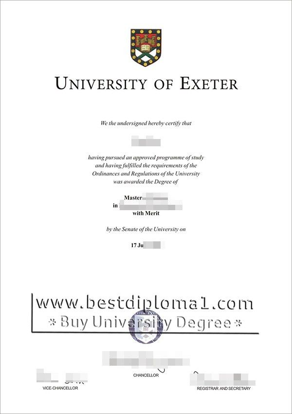 University of Exeter diploma, make a Exeter certificate UK http ...