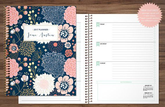 2018 planner 2017 2018 student planner HORIZONTAL LAYOUT