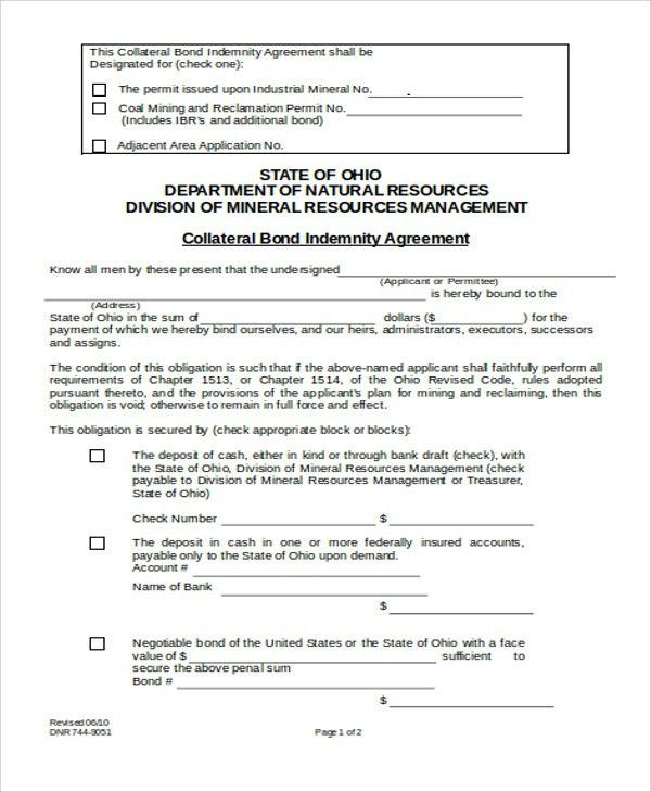 8+ Collateral Agreement Templates - Word, PDF | Free & Premium ...