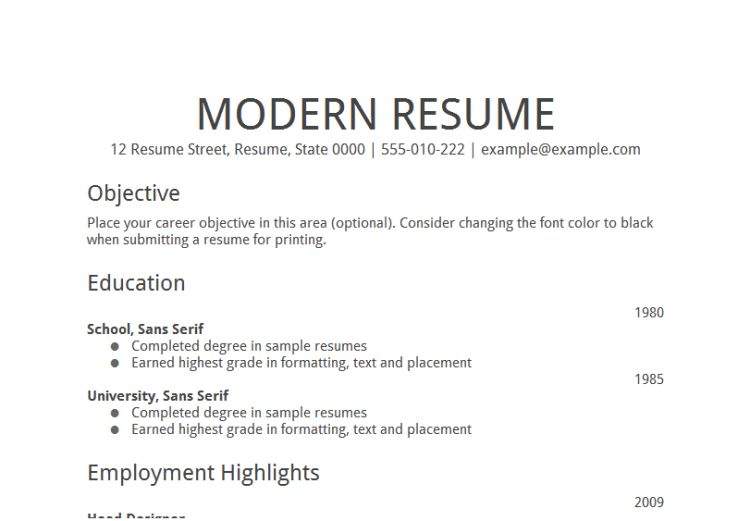 Download Job Objective For Resume | haadyaooverbayresort.com