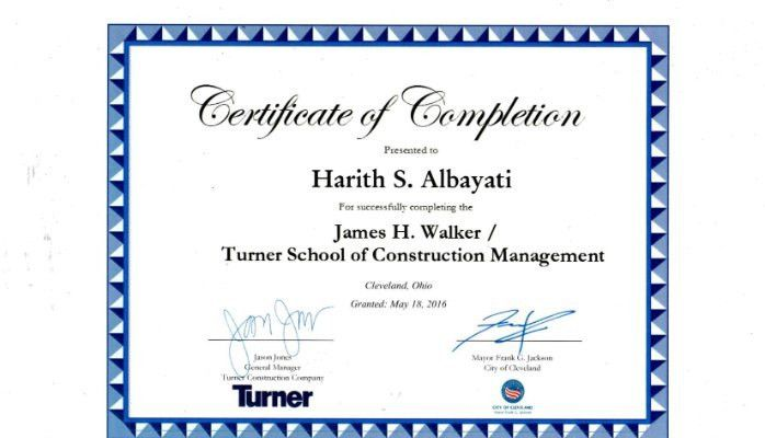 Construction Management Certificate | Harith Al Bayati | Pulse ...