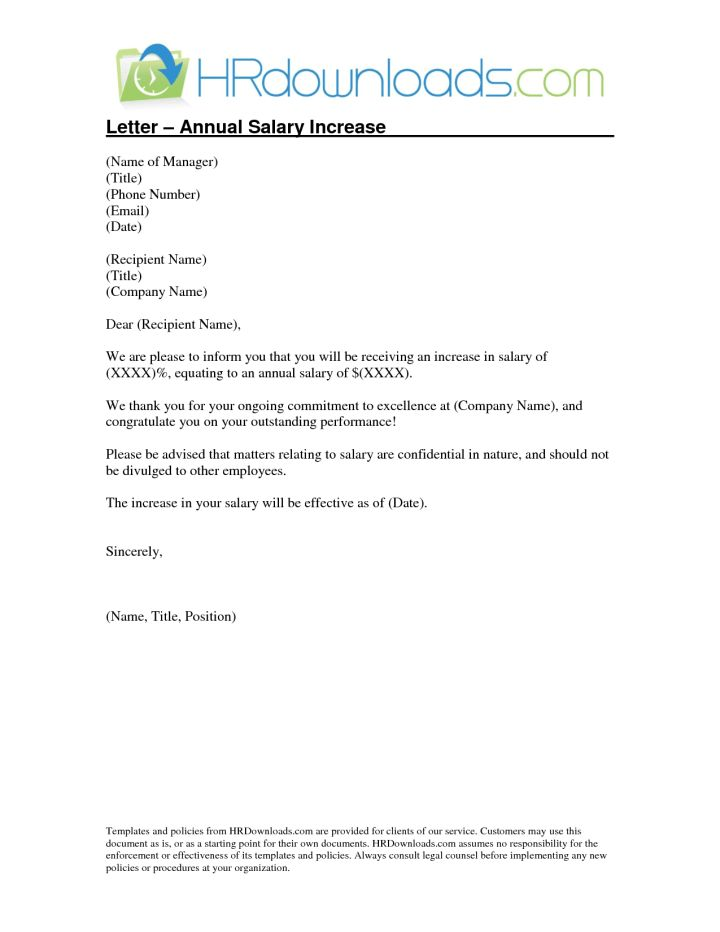 Pay Raise Letter Salary Proposal Letter Best 173 Lawyers Forms – Pay Raise Letter Template