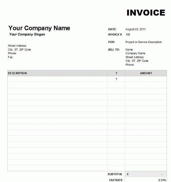 Free Printable Service Invoice Template - Best Resume Collection