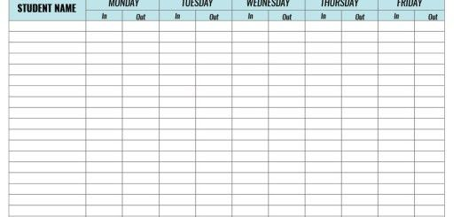 8 Free Sample Safety Sign in Sheet Templates – Printable Samples