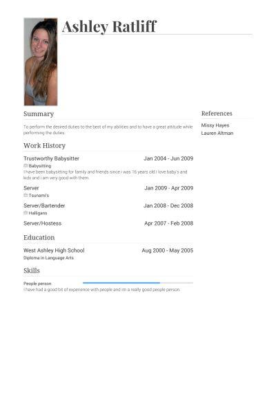 baby sitter job resume format download pdf pinterest baby sitter ...