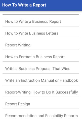 How to Write a Report - Android Apps on Google Play