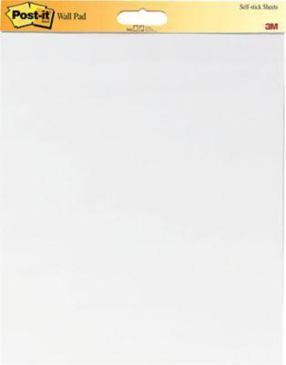 "Post-it® Self-Stick Wall Pad, 20"" x 23"", Unruled, Plain White, 2 ..."